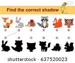 find correct shadow. kids... | Shutterstock .eps vector #637520023