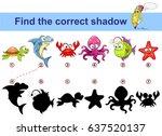find correct shadow. kids... | Shutterstock .eps vector #637520137