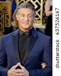 sylvester stallone at the 88th... | Shutterstock . vector #637526167