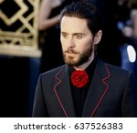 jared leto at the 88th annual... | Shutterstock . vector #637526383