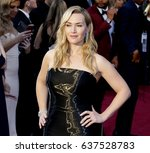 kate winslet at the 88th annual ... | Shutterstock . vector #637528783