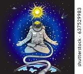 vector color astronaut in the...   Shutterstock .eps vector #637529983
