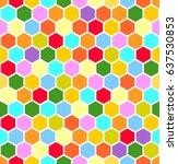 color honeycombs | Shutterstock .eps vector #637530853