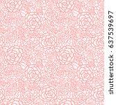 vector gentle pastel pink lace... | Shutterstock .eps vector #637539697