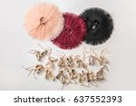 three colorful tutus and many... | Shutterstock . vector #637552393