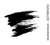ink vector brush strokes.... | Shutterstock .eps vector #637584343
