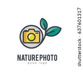 nature photo camera simple icon ... | Shutterstock .eps vector #637601317