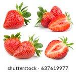 strawberry fresh ripe berry... | Shutterstock . vector #637619977