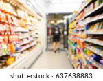 abstract blur people shopping... | Shutterstock . vector #637638883