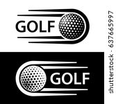 golf ball motion line symbol... | Shutterstock .eps vector #637665997