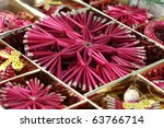 Box With Various Handmade Stra...
