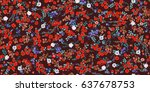 seamless cute raster pattern of ... | Shutterstock . vector #637678753