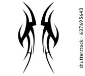 tribal tattoo art designs.... | Shutterstock .eps vector #637695643