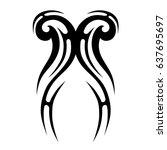 tattoo tribal vector design....   Shutterstock .eps vector #637695697