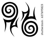 tattoo tribal vector design.... | Shutterstock .eps vector #637695823