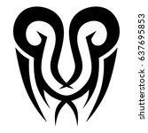 tattoo tribal vector design.... | Shutterstock .eps vector #637695853