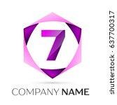 number seven vector logo symbol ... | Shutterstock .eps vector #637700317