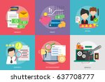 business and finance conceptual ... | Shutterstock .eps vector #637708777