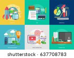 business and finance conceptual ... | Shutterstock .eps vector #637708783
