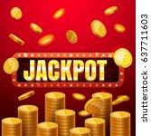 jackpot casino banner  read... | Shutterstock .eps vector #637711603