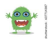 monster on a white background.... | Shutterstock .eps vector #637714387