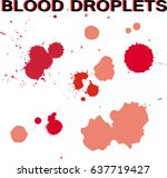 blood splatter on white... | Shutterstock .eps vector #637719427