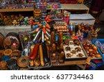 balinese market. souvenirs of...   Shutterstock . vector #637734463