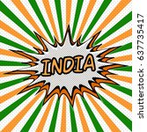 banner flag india style pop art ... | Shutterstock .eps vector #637735417