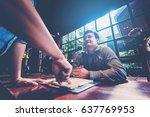 boss business complain to...   Shutterstock . vector #637769953