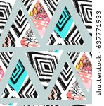 hand drawn vector abstract... | Shutterstock .eps vector #637771933