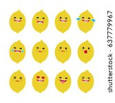 set of emoticons. smile emoji... | Shutterstock .eps vector #637779967