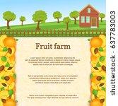 vector illustration of a fruit... | Shutterstock .eps vector #637783003