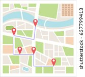 street maps and directions | Shutterstock .eps vector #637799413