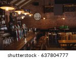 empty bar counter at pub | Shutterstock . vector #637804777