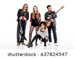young rock and roll band... | Shutterstock . vector #637824547