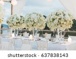 dinner wedding   Shutterstock . vector #637838143