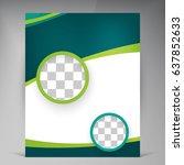 vector abstract template design ... | Shutterstock .eps vector #637852633