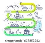 vector illustration of city... | Shutterstock .eps vector #637853263
