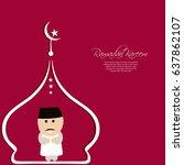 illustration of ramadan kareem...   Shutterstock .eps vector #637862107