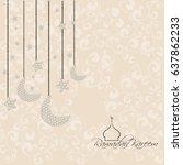 illustration of ramadan kareem... | Shutterstock .eps vector #637862233