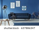 grey additions in blue trendy... | Shutterstock . vector #637886347
