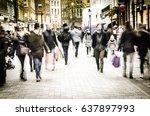 covent garden  london  30... | Shutterstock . vector #637897993