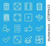 choice icons set. set of 16... | Shutterstock .eps vector #637899613