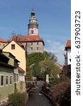 cesky kromlov  czech republic ... | Shutterstock . vector #637903723