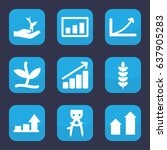 grow icon. set of 9 filled grow ... | Shutterstock .eps vector #637905283