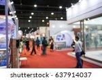 abstract people walking in... | Shutterstock . vector #637914037