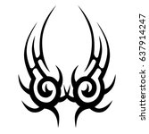 tattoo tribal lower back vector.... | Shutterstock .eps vector #637914247