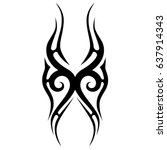 tattoo tribal vector design.... | Shutterstock .eps vector #637914343