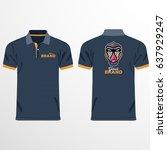color men polo shirts. design... | Shutterstock .eps vector #637929247