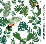 vector illustration tropical... | Shutterstock .eps vector #637936447